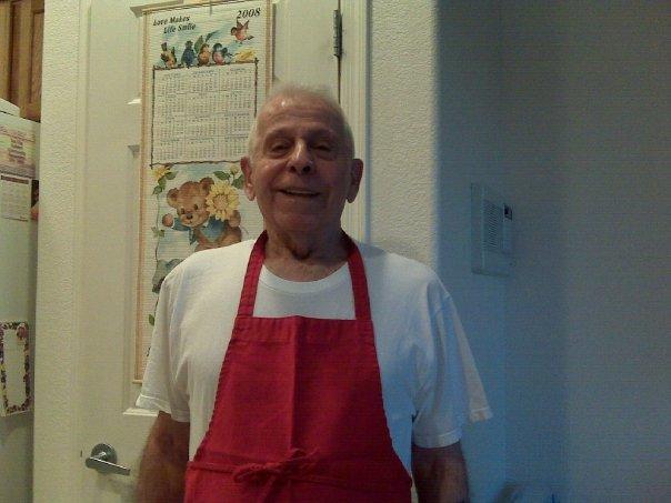 grandpa in apron