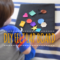DIY Felt Lap Board