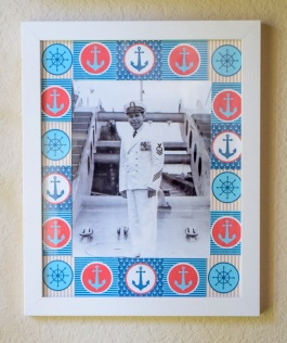 Mod Podge Photo Border with Frame
