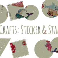 Toddler Crafts: Sticker & Stamp Board