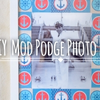 DIY Mod Podge Photo Border: Remembering Grandpa Bill