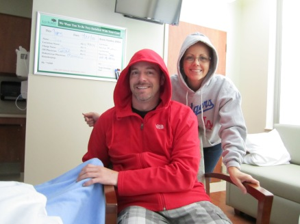 My Labor Coaches, Wes & My Mom, I guess it Was Cold
