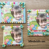 DIY POPSICLE STICK PICTURE FRAMES