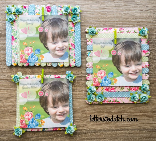 DIY POPSICLE STICK PICTURE FRAMES – Letters To Dutch