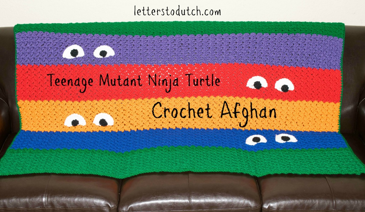 Teenage Mutant Ninja Turtle Crochet Afghan