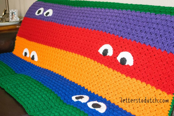 Crochet Pattern For Ninja Turtle Blanket : Teenage Mutant Ninja Turtle Crochet Afghan