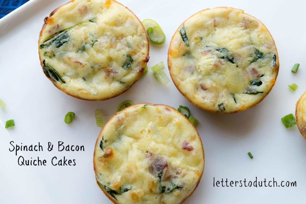 Spinach & Bacon Quiche Cakes