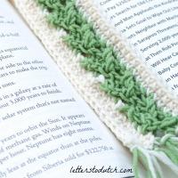 Arrow Stitch Crochet Bookmark Free Pattern