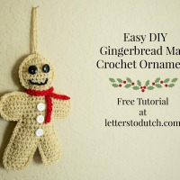 Easy DIY Gingerbread Man Crochet Ornament