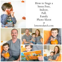 How to Stage a Stress Free Indoor Fall Family Photo Shoot