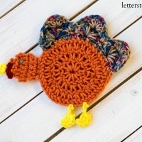 Crochet Turkey Coaster Pattern